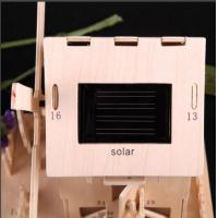 Wholesale Solar Powered Gadgets DIY Solar Toys Solar Beech Wooden House from china suppliers