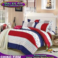 Wholesale Dot and Stripes Designs Colorful Bedsheet Pillowcases Duvet Cover Sets from china suppliers