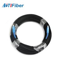 Quality Simplex FTTH Drop Cable SC / UPC Optical Fiber Patch Cord With Black / White LSZH Jacket for sale