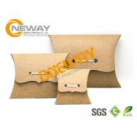 Wholesale Small PMS Color Recycled Kraft Paper Pillow Boxes Wholesale , Custom Printed Boxes from china suppliers