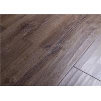 Buy cheap Dark Oak Distressed Laminate Flooring Swift Click Lock , Floating Glueless Laminate Floor from wholesalers