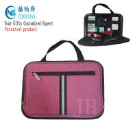 Wholesale Electronics Travel Organizer Storage Bag , Pink Gadget Case Organizer from china suppliers