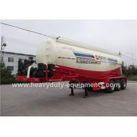 Wholesale 3 axles cement powder tank semi trailer with 12 tires support customized for any type from china suppliers
