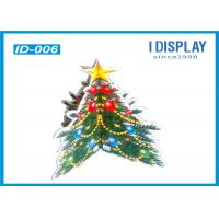 Wholesale Floor Advertising Cardboard Christmas Tree Display Stands For Super Mall from china suppliers