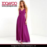 Wholesale 2016 Spring / Summer Sleeveless V-neck Adjustable Straps Purple Maxi Dress from china suppliers