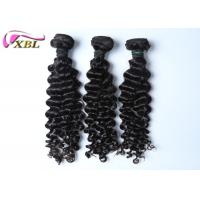 Buy cheap Natural Black Human Brazilian Virgin Hair Extensions No Tangle And Shedding from wholesalers
