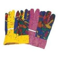 Wholesale Cotton knitted fabric floral town & country gardening gloves ladies with logo from china suppliers