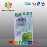 Wholesale Three - Side Sealing Ziplock Pouch With Round Window For Packing Hamster Bathing Sand / Pet Food from china suppliers