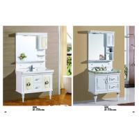 Quality Antique PVC Bathroom Cabinet Soft Close Door Contemporary Bathroom Vanity Sets for sale