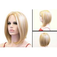 Wholesale Layered Short Blonde Bob Wig Heat Resistant Synthetic Hair Extensions from china suppliers