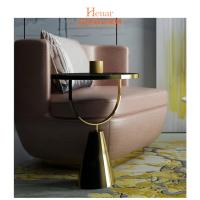 Buy cheap Metal Small Narrow Short Movable Sofa Snack Side End Table Eco-Friendly from wholesalers