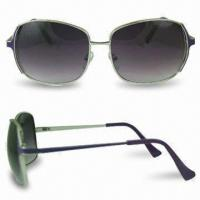 Wholesale Sunglasses in Fashionable Design, Scratch-resistant Coating on Lens and Cupronickel Frame from china suppliers