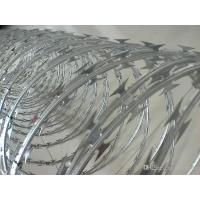 Wholesale Weatherproof High Safety Razor Barbed Wire Fence , Highways / Military Razor Wire from china suppliers