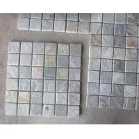 Quality Oyster Slate Stone Wall Mosaic Tile Natural Mosaic Pattern Floor Oyster Mosaic Parquet for sale