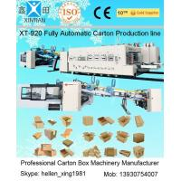 Wholesale Cardboard Carton Packing Machine Slotter Die - Cutter Inline With Folder Gluer Bundler from china suppliers