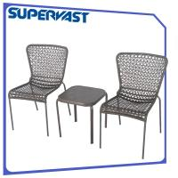 Wholesale Outdoor Rattan Lattice Knitting Patio Bistro Set Round Bistro Table And Chairs from china suppliers