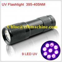 Wholesale Waterproof Black Color Aluminum Alloy  Dry Battery Powered 395NM 9 UV LED FLashlight/Torch from china suppliers