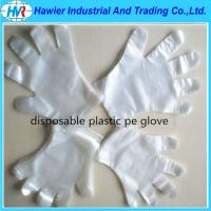 Quality PE glove plastic gloves disposable transparent gloves for sale