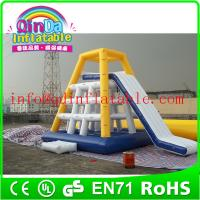 Wholesale QinDa Inflaable Best Sale inflatable floating water slide adults inflatable water slide from china suppliers