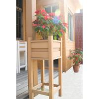 Wholesale WPC Project Composite Flower Pots With Natural Wood Brushed WPC Boards from china suppliers