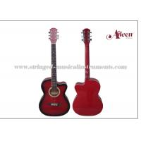 "Wholesale All Linden Plywood Alternative Colorful Cutaway 38  "" Glossy or Matt finish Acoustic Guitar from china suppliers"