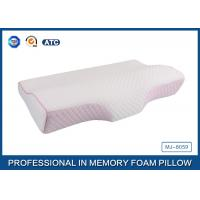 Wholesale Colorful Tencel Cover / Pipping Raised Curved Memory Foam Pillow 23.7X13.5X2.5-4.2 Inch from china suppliers