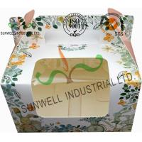 Wholesale Recycled White Cardboard Cake Packaging Boxes With Lids Full CMYK Printing from china suppliers