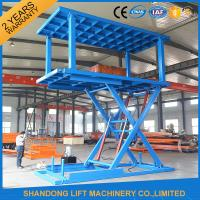 Wholesale Two Layers Folding Hydraulic Scissor Double Parking Car Lift , Blue from china suppliers
