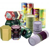 Wholesale Cylinder Colorful Recyclable Paper Cans Packaging for Food Cosmetics and Matches from china suppliers