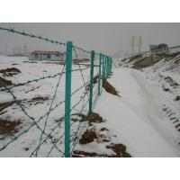Wholesale Barbed Wire Fence,Barbed Concertina Wire Fence,Green PVC Security Thorny Fencing from china suppliers