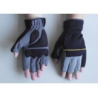 Wholesale Neoprene Cuff anti - vibration safty Protection Fingerless Mechanic Work Gloves from china suppliers