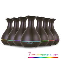 Wholesale Aromatherapy Essential Oil Diffuser 400ml Wooden Aroma Mist Humidifiers with Mood Light from china suppliers