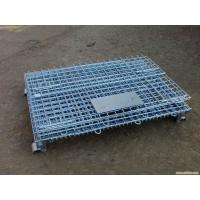 Quality Heavy Duty Galvanized Metal Storage Cage / Wire Mesh Container For Wearhouse Storage for sale