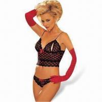 Wholesale Sexy Lingerie Bodysuit Includes Top, Pant and Gloves from china suppliers