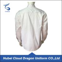 Quality Cotton Twill White Long Sleeve Security Guard Shirts Traditional Style Printed Logo for sale