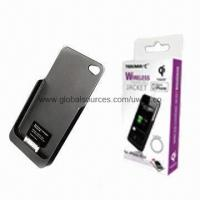 wireless charging jacket for iphone 4 4s qi compatible of item 96510390. Black Bedroom Furniture Sets. Home Design Ideas