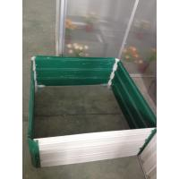 Wholesale Outdoor Flower Metal Garden Box / Steel Raised Garden Beds Green / Silver from china suppliers