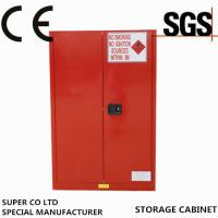 Wholesale Iron Free Standing Lockable Chemical Storage Cabinets , Flammable Storage Locker from china suppliers