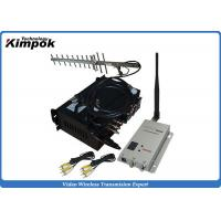 Wholesale 30KM Long Range AV Wireless Transmitter 10W 1.2Ghz CCTV Video Transmitter and Receiver from china suppliers