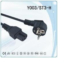Wholesale 3 Prong Laptop Power Cord - Schuko CEE7 to IEC320 C13 Clover Leaf Power Cable Lead from china suppliers