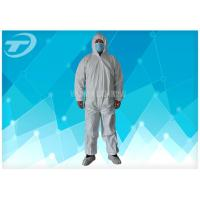 Wholesale Anti - Acid White Disposable Coverall Suit Microporous Film Laminated Fabric from china suppliers