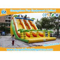 Wholesale Giant Commercial Dinosaur Inflatable Water / Dry Slide Bouncer With Slide from china suppliers