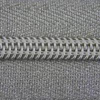 Quality Nylon zipper with silver tape and silver teeth for sale