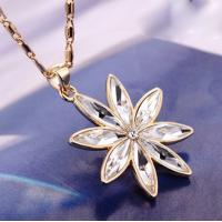 Wholesale Ref No.: 105061 Snow Flower may birthstone necklace jewellery by swarovski jewelry heart from china suppliers