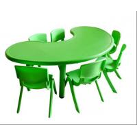 Buy cheap 60mm Tube Green Kids Study Table And Chair Set Plastic Material from wholesalers