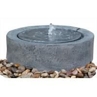 Wholesale Black Marble Cast Asian Buddha Water Fountain Outdoor In Chinese Stone Mill Shape from china suppliers