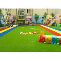 Buy cheap Dense Surface Silky Soft Monofilament PE + Curly PP Outdoor Artificial Grass , 5 - 8 Years Warranty from wholesalers
