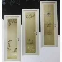 Wholesale 1.0mm - 1.2mm profile thickness kitchen, bath room powder coated aluminum hinged doors from china suppliers