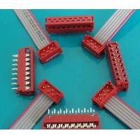 Wholesale Equivalent AMP 1.27mm pitch IDC cable,with red connector header ,0.635mm grey cable from china suppliers