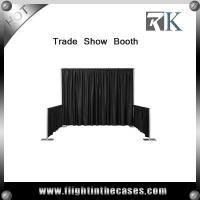 Quality trade show display booth photo booth enclosure made by pipe and drape for sale